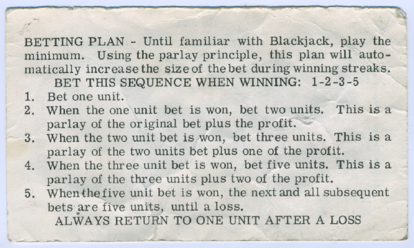 A betting system