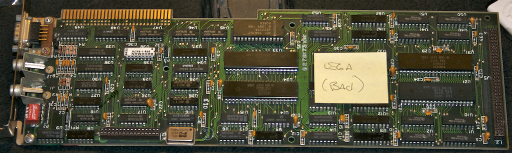 an EGA card, labeled (Bad)